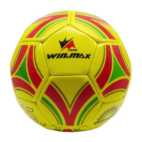 Max Ballon Football Soccer Équipe Sport Outdoor Indoor Jaune Rouge Vert RAYLINE Win