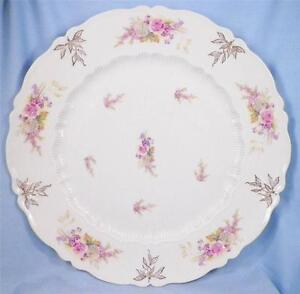 Wildflowers-Porcelain-Cake-Cookie-Plate-Tray-Platter-Vintage-C-T-Germany-As-Is