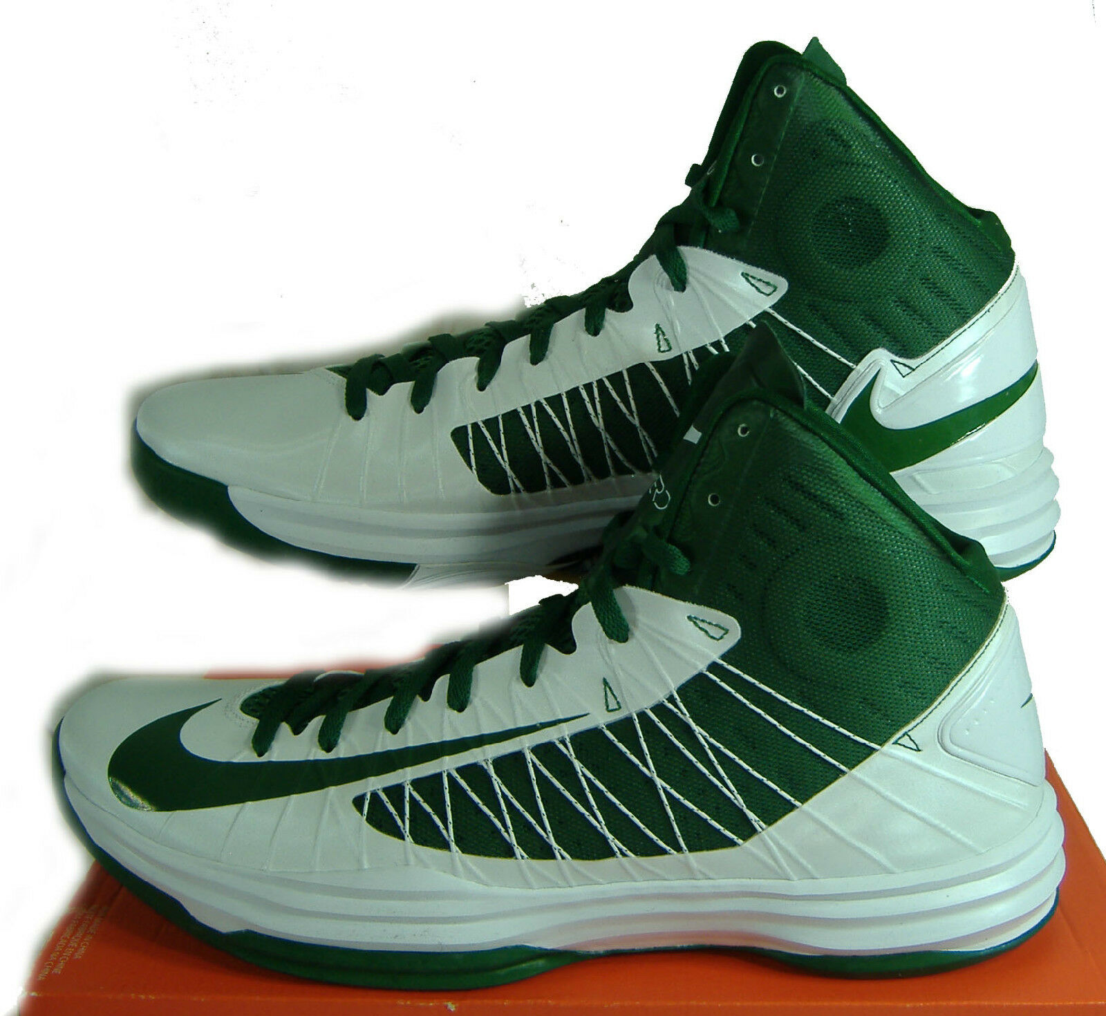 New Mens 17 NIKE Hyperdunk TB White Green High Top Shoes 125 524882-103
