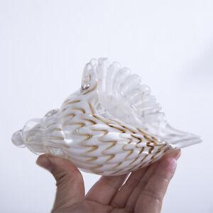 H-amp-D-3D-Hand-Blown-Glass-Murano-Art-Seashell-Conch-Sculpture-Crystal-Figurines