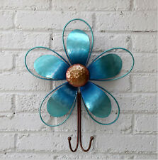 Item 2 Metal Vintage Blue Flower Wall Hanging Hook Home Decor 12