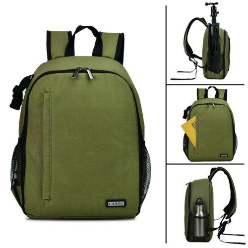CADeN D6 Impermeable Negro Cámara Bolsa Mochila para Sony Canon Nikon SLR DSLR UK