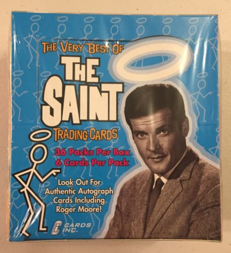 Roger Moore The Very Best of The Saint Trading Cards Box 36 Packs Ships Today