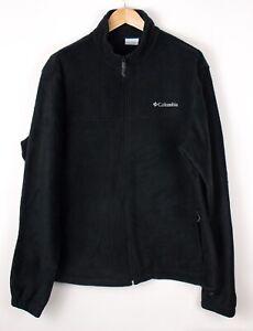 COLUMBIA-Men-Casual-Zip-Fleece-Jumper-Sweater-Size-XL-ATZ945