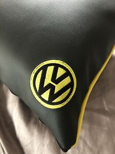 faux-leather-cushion-vw-camper-van-Black-And-Yellow-With-Insert