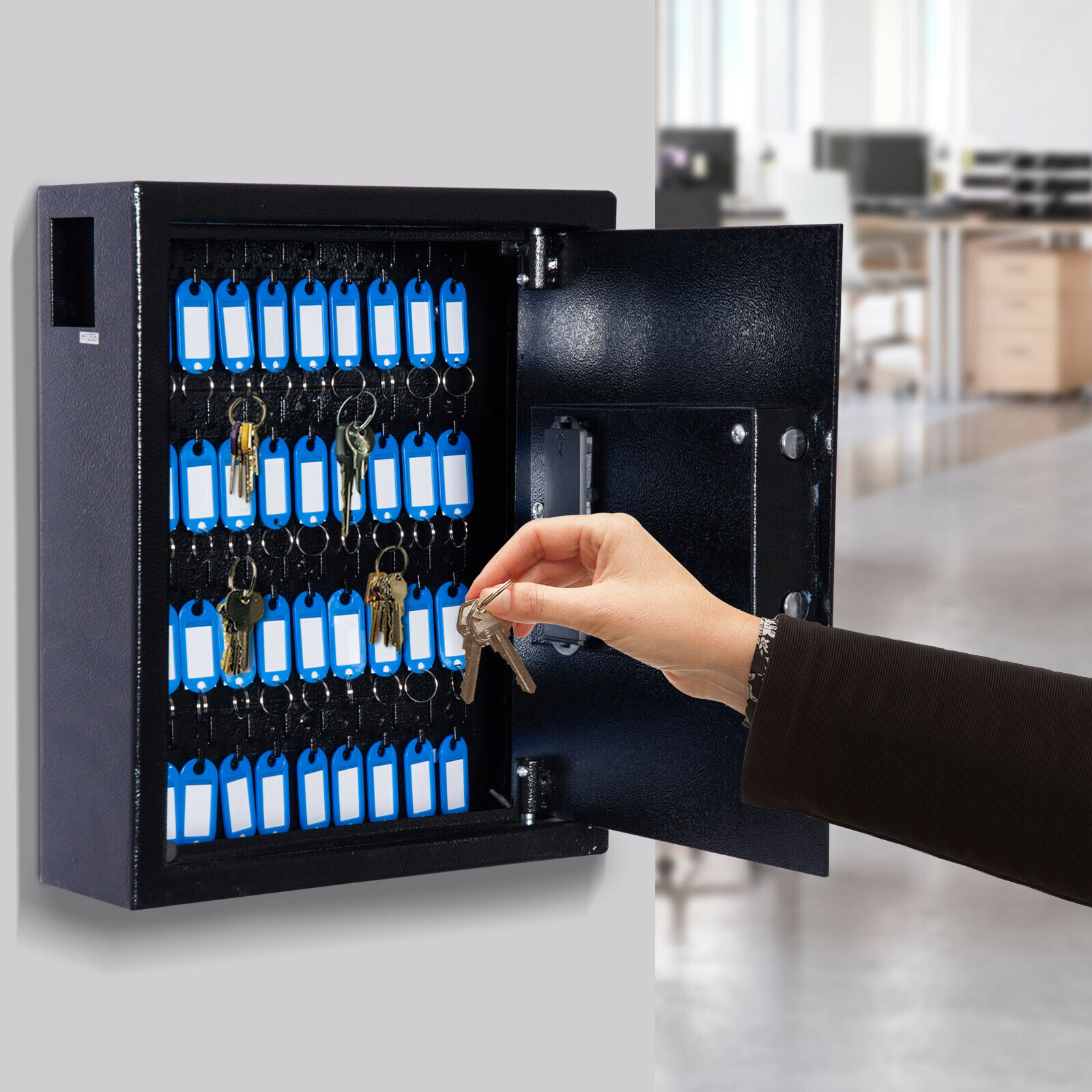 40 Key Steel Wall Mount Lockable Key Organizer Storage Cabin