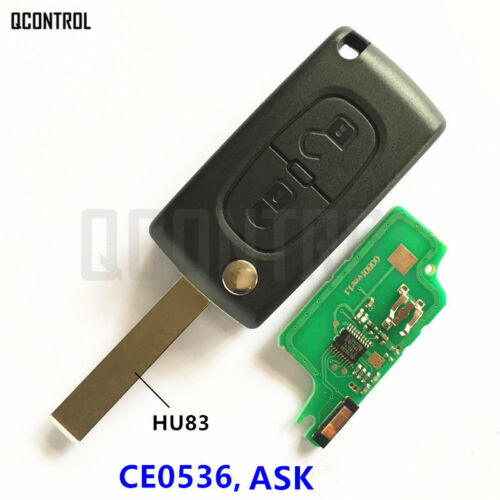 CE0536 ASK Car Remote Key Suit for PEUGEOT 207 208 307 308 408 Partner HU83