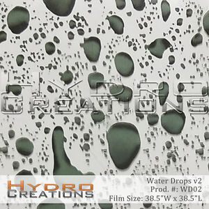 HYDROGRAPHIC FILM FOR HYDRO DIPPING WATER TRANSFER FILM WATER DROPS - DARK