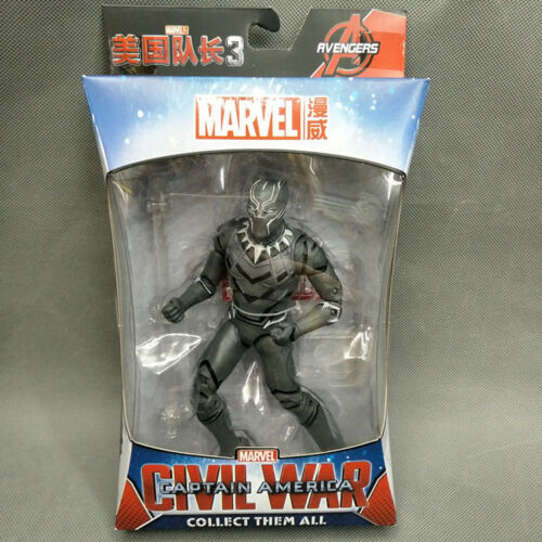 Marvel Avengers Iron Man Black Panther PVC Action Figure Collectible Model Toy