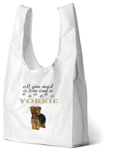 Yorkshire Terrier Dog Design Printed Eco-Friendly Foldable Shopping Bag SBYORKI1