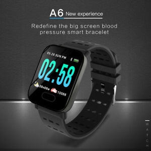 uk availability 103ee 6d598 Details about IP67 Waterproof A6 Smart Watch Bluetooth For Android Samsung  Huawei iOS iPhone