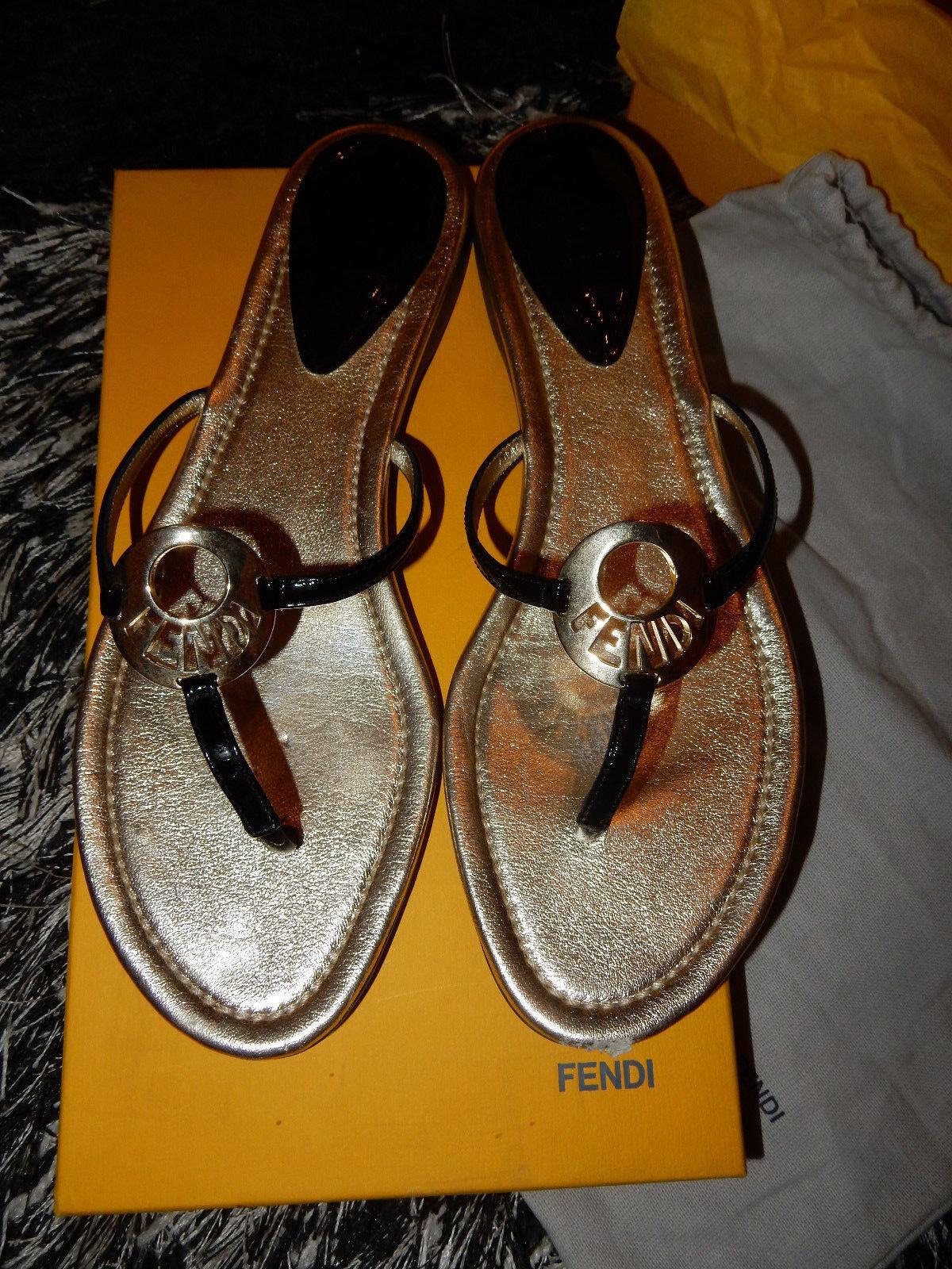 FENDI Schuhe   Sandalen mit Staubbeutel und Karton - Gr. 41