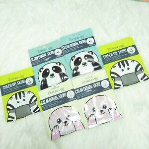 Details about 6 The Creme Shop Animal Face Mask Set Calm Slow Cheer Skin  K-Beauty