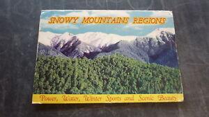 AUSTRALIAN-OLD-POSTCARD-VIEW-FOLDER-1960s-SNOWY-MOUNTAINS-REGIONS-NSW