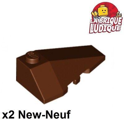 2x Wedge 4x2 Triple Rechts Gerade Steigung Braun/rötlich Braun 43711 Neu Lego Lego Bausteine & Bauzubehör