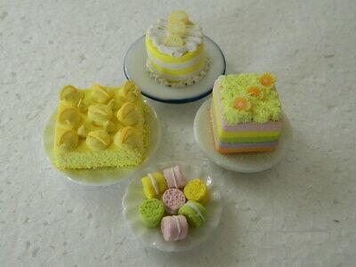 (c5) 1/12th Scala Casa Delle Bambole Torte: Fatti A Mano Assortiti Per Torte Set-mostra Il Titolo Originale Può Essere Ripetutamente Ripetuto.
