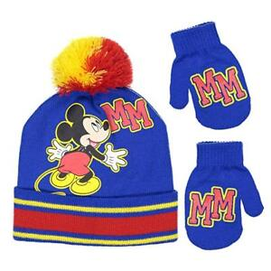 257a7880568 Disney Mickey Mouse Boys Beanie Knit Winter Hat And Mitten Set ...