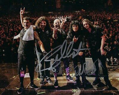 Anthrax Band Signed 8x10 Photo A2 Coa Delicious In Taste Gfa Frank Bello & Charlie Benante
