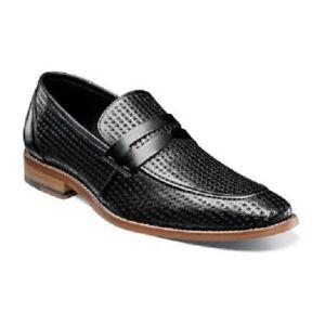 Stacy-Adams-Belfair-Moc-Toe-Penny-Loafer-Mens-Shoes-Black-25165-001