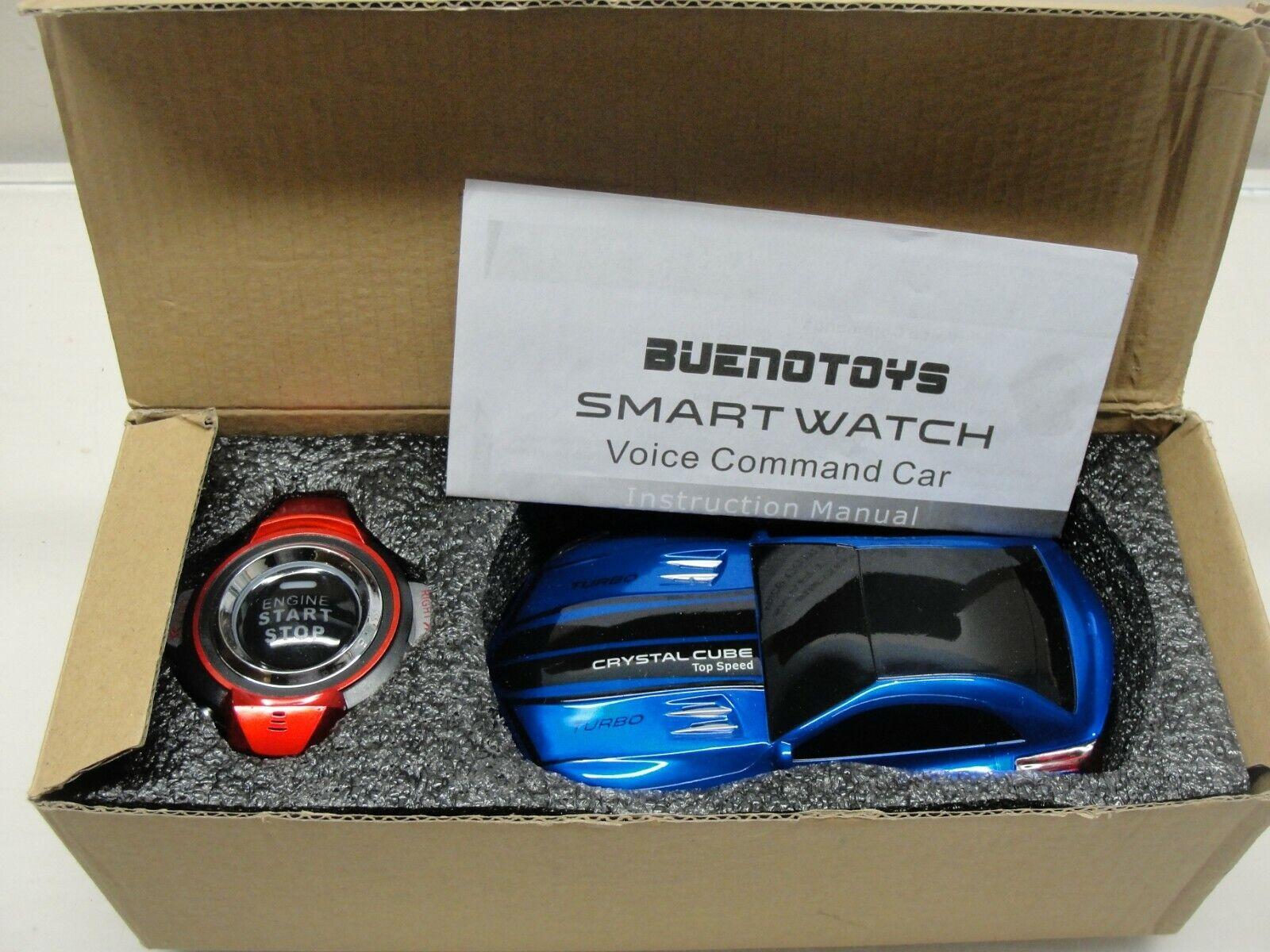 RARE NEW BUENOTOYS SMART WATCH VOICE COMMAND R C CAR blueE CRYSTAL CUBE