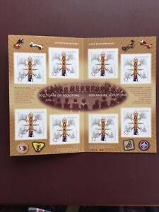 Canadian-Stamp-Booklet-2007-52-Cent-100-YEARS-OF-SCOUTING-BK357