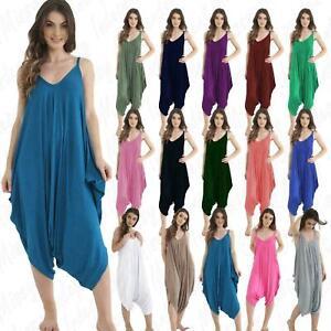 Womens-Cami-Jumpsuit-Playsuit-Romper-Harem-Lagenlook-Dress-8-26