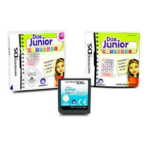 Nintendo-Jeu-DS-la-Junior-Mot-Questionnaire-Wortquiz-dans-Ovp-avec-Instructions