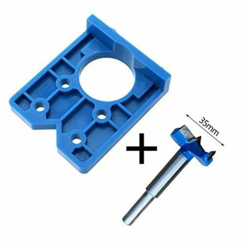Template Cabinet Door Hinge Jig Hinges Installation Drill Hole Guide Tool QK
