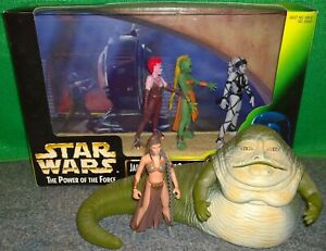 Star Wars Jabba + Palace Dancers Rystall, GREEATA, Lyn Me + Princess LEIA - Used