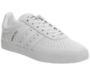 69795c17a4562d adidas Originals 350 Mens UK 12 EU 47 1 3 White Leather Trainers ...