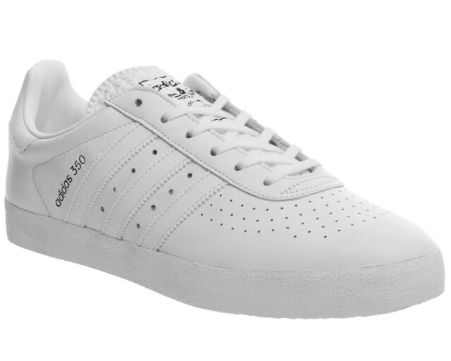 buy online 532a3 92f4d adidas Originals 350 Mens UK 12 EU 47 13 White Leather Trainers SNEAKERS  BB2781 for sale online  eBay