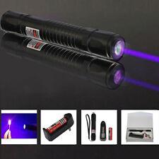 New Purple Laser Pointer Pen 405nm Burning Lazer Light Beam +18650+ Charger