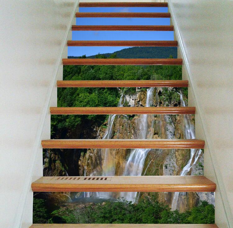 3D Hügel Fließen 75 Stair Risers Dekoration Fototapete Vinyl Aufkleber Tapete DE