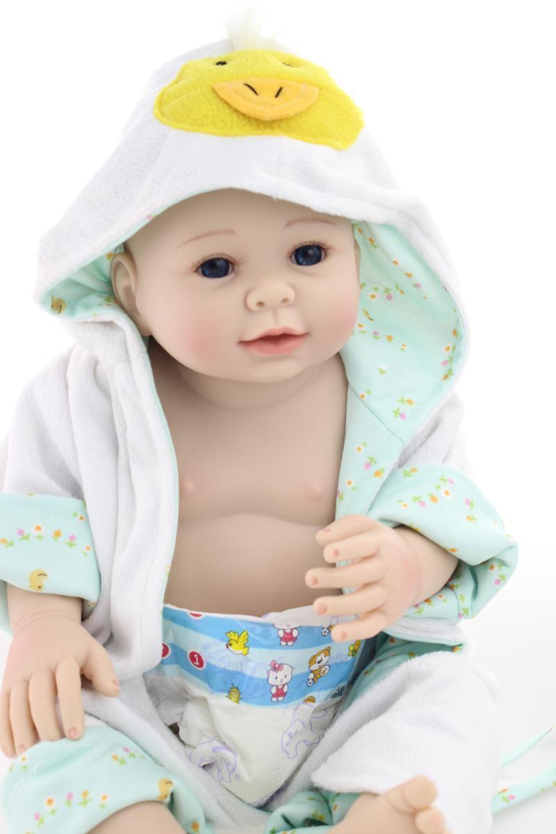 20  realista Muñeca Bebé Reborn De Silicona Cuerpo Completo Niño simulación realista