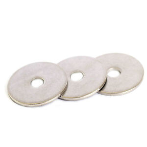 M10 X 25MM STAINLESS STEEL REPAIR WASHER A2 GRADE 304 PENNY MUDGUARD WASHER