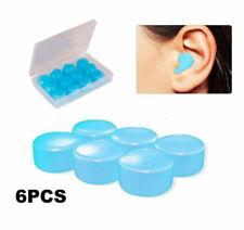 6pcs Reusable Silicone Ear Plugs Noise Cancelling Earplugs Protector Study Sleep