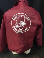 Vintage Nylon Jacket Prairie Riders Illinois Snowmobile Men's M