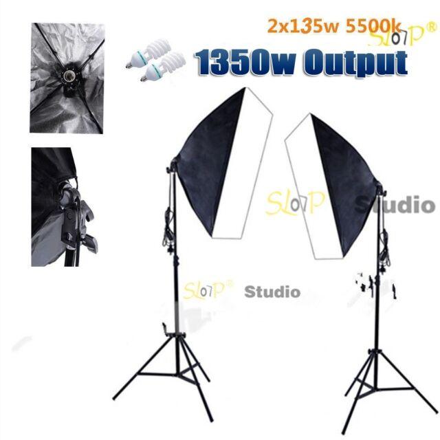 1350W Photography Studio Softbox Lighting Photo Video Soft Box Light Stand Kit