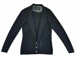 ReaCollection-Tuxedo-Style-Dark-Grey-Blazer-Sweater-Size-XS-Womens