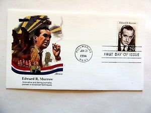 January-21st-1994-034-Edward-R-Murrow-034-First-Day-Issue