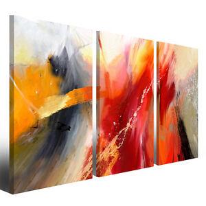 Quadri astratti moderni canvas 130 x 90 cm stampa su tela con ...
