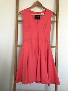 Asos-Petite-Coral-Pink-Mini-Dress-Size-10