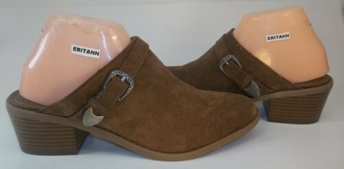 American Eagle Outfitters Womens Shoes Mules US 7 Brown Suede Slip-On Western