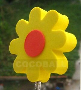 Yellow Flower Red Center Antenna Topper Ball Nip Ebay