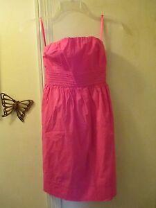 Body-Central-Strapless-Dress-w-Smocking-amp-Tie-Backs-Size-S-runs-small