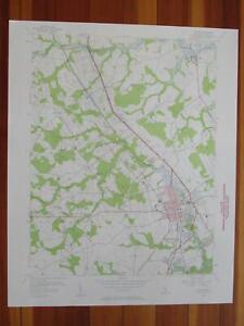 Antique Holland South Quay Somerton Virginia 1957 US Geological Survey Topographic Map \u2013 Franklin Carrsville Delaware Riverdale