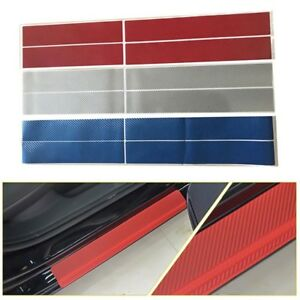 4x-Accessories-Carbon-Fiber-Car-Scuff-Plate-Door-Sill-3D-Sticker-Panel-Protector