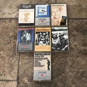 Lot Of 7 Hank Williams Sr Cassette Tapes Classic Country Music