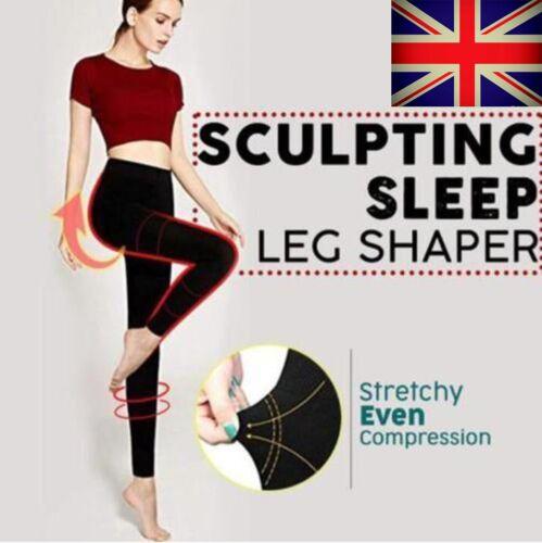 Women Sculpting Evening Sleep Leg Shaper Pants Legging Long Socks Body Shaper