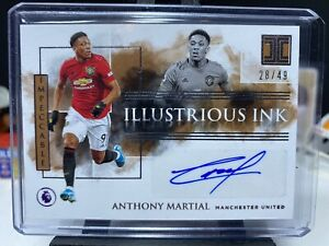 2019-20 Impeccable Soccer ANTHONY MARTIAL Illustrious Ink Autograph 28/49 AUTO